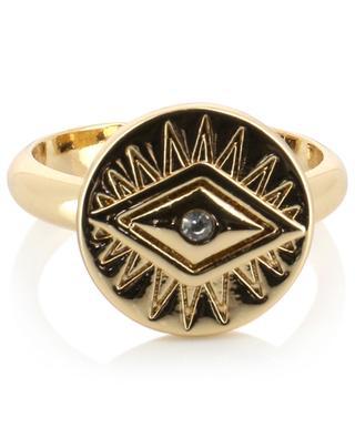 Bindi Gold adjustable ring with eye design HIPANEMA