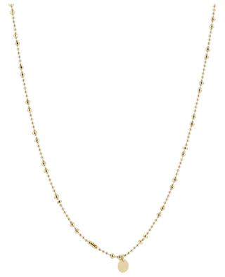 Aman golden necklace with embroidered heart pendant CAMILLE ENRICO