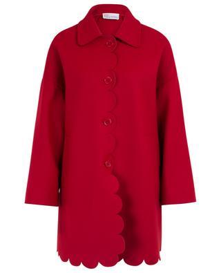 Leichter Mantel aus Wolle und Kaschmir mit Muschelsaum RED VALENTINO