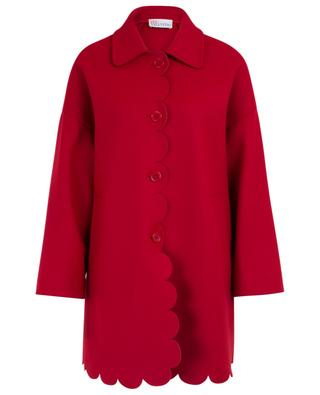 Wool and cashmere light scalloped coat RED VALENTINO