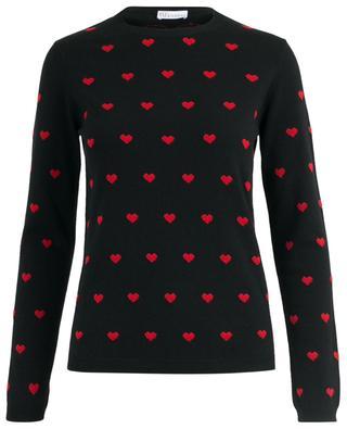 Feiner Jacquard-Pullover mit Herzmotiv RED VALENTINO