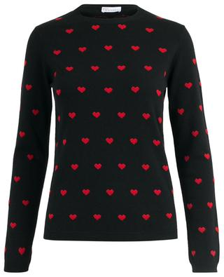 Fine heart embellished jacquard jumper RED VALENTINO