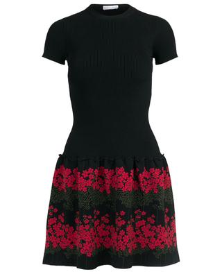 Dreaming Peony short jacquard knit dress RED VALENTINO