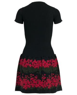 Dreaming Peony short jacquard knit dress RED VALENTINO