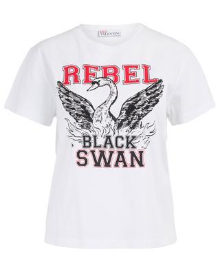 T-shirt en coton imprimé Rebel RED VALENTINO
