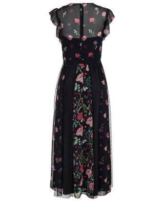 Langes geblümtes Kleid mit Tüll Cherry Blossom RED VALENTINO