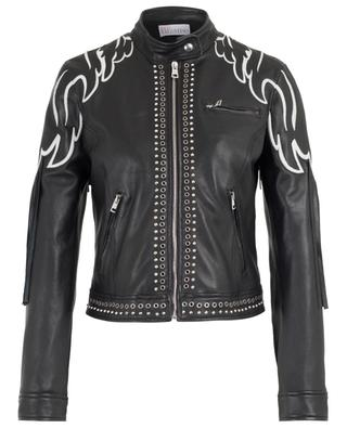 Wings fringed leather jacket with studs RED VALENTINO