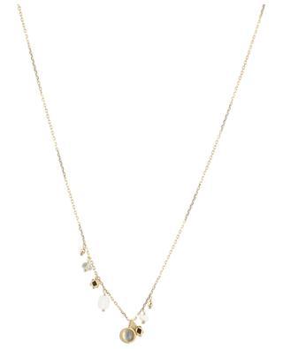 Goldene Halskette mit Mondstein Loop 5 OCTOBRE