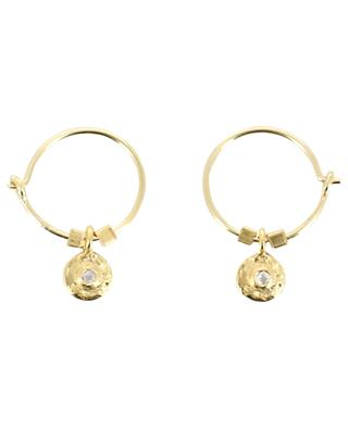 Evan golden moonstone embellished hoop earrings 5 OCTOBRE