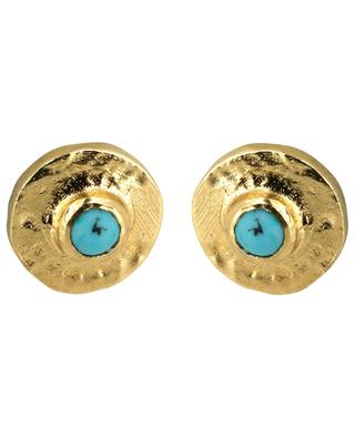 Feliz golden ear studs with turquoise 5 OCTOBRE