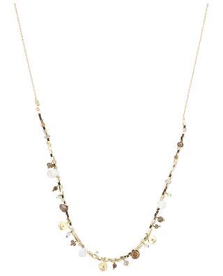 Vergoldete Silberkette mit Mondstein Asia 5 OCTOBRE