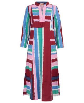 Kaftan aus Baumwolle mit Print Giada Stripes EMPORIO SIRENUSE POSITANO