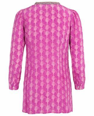 Kate Little Palms printed silk tunic EMPORIO SIRENUSE POSITANO