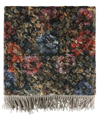 Happy Plaids Flowers wool and velvet plaid CARMA