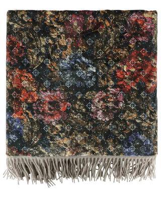 Plaid aus Wolle und Samt Happy Plaids Flowers CARMA