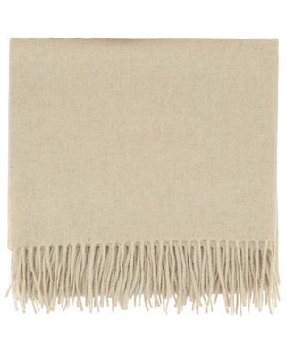 Plaid frangé en laine et cachemire CARMA