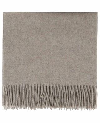 Fringed wool and cashmere plaid CARMA