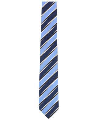Cravate rayée en soie ERMENEGILDO ZEGNA