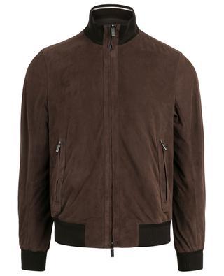 Reversible suede bomber jacket ERMENEGILDO ZEGNA