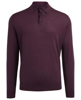 Long-sleeved wool polo shirt ERMENEGILDO ZEGNA