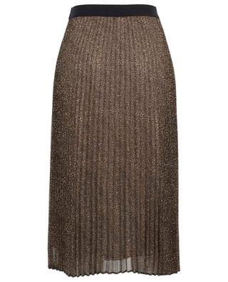 Dede pleated skirt with leopard print IBLUES