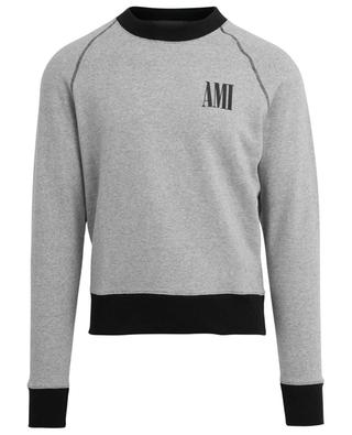 Sweat-shirt bicolore imprimé logo AMI AMI