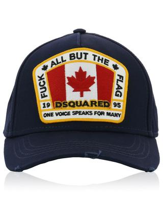 Canadian Flag distressed baseball cap DSQUARED2