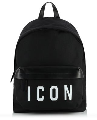 Icon nylon and leather backpack DSQUARED2