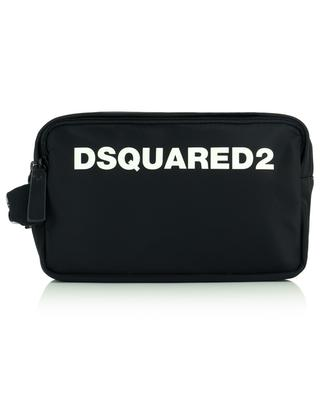 Dsquared2 nylon and leather toiletry bag DSQUARED2