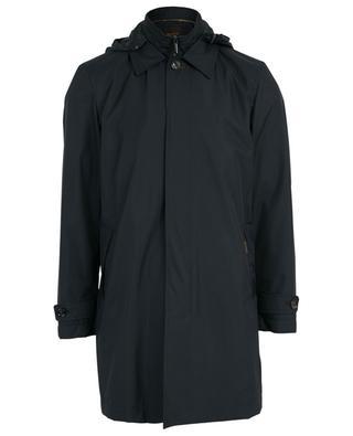 Hooded rain coat MOORER
