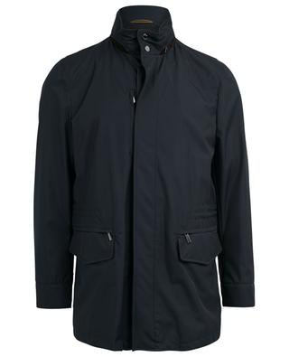 Barber hooded water-repellent coat MOORER