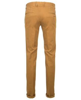Cotton-blend corduroy trousers with pleats INCOTEX