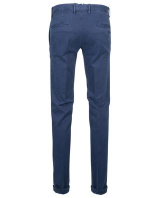 Cotton-blend corduroy trousers with pleats INCOTEX