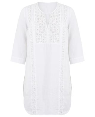 Linen embroidered tunic 120% LINO
