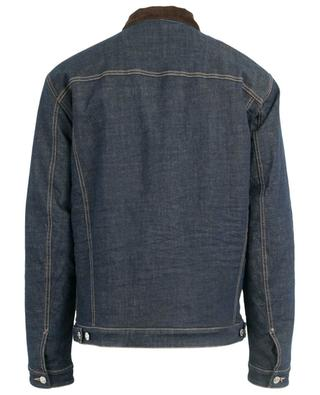 Denim jacket with corduroy collar DSQUARED2