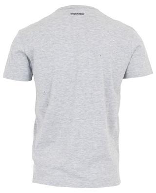 T-Shirt aus Baumwolle mit Rissen Icon DSQUARED2