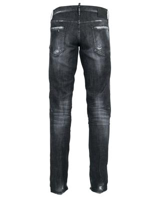 Slim black faded distressed jeans DSQUARED2