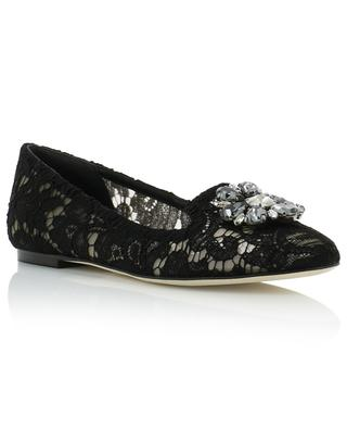 Vally lace and crystal ballet flats DOLCE & GABBANA