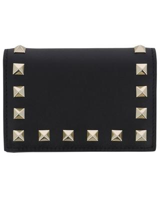 Rockstud card holder with gusseted pocket VALENTINO
