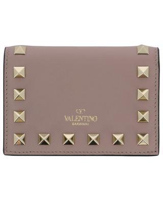 Rockstud card holder with gusseted pocket VALENTINO