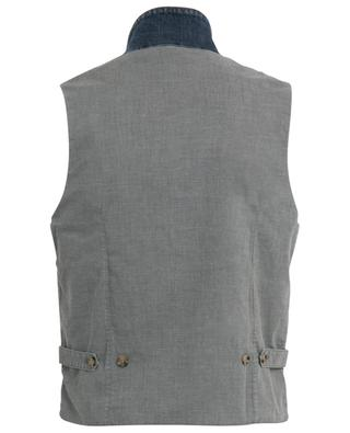 Double-breasted denim gilet ELEVENTY