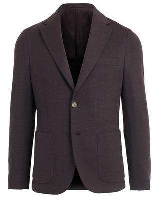 Chevron pattern adorned cotton and wool blazer ELEVENTY
