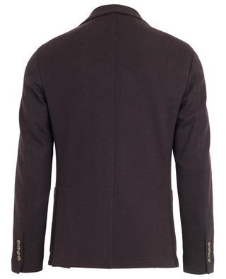 Blazer en coton et laine motif chevron ELEVENTY