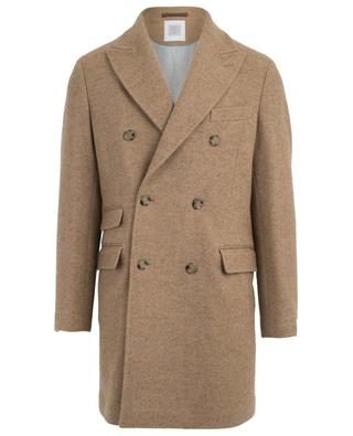 Double-breasted wool and alpaca coat ELEVENTY