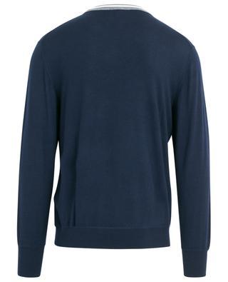 Platinum extra fine jumper with striped crew neck ELEVENTY