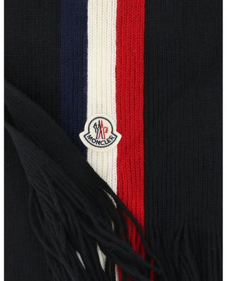 Scarf adorned with tricolour stripes and logo MONCLER