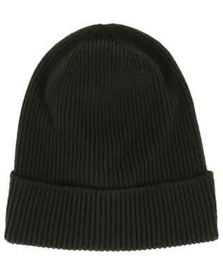 Logo patch ribbed virgin wool beanie MONCLER