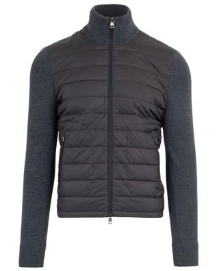 Zippered knit cardigan with down jacket parts MONCLER