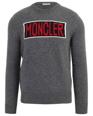 Pull en laine logo intarsia MONCLER