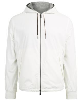 Reversible hooded windbreaker jacket ERMENEGILDO ZEGNA